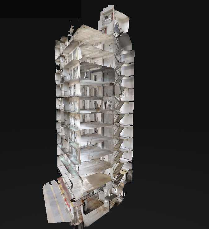 Matterport で14階層の仙台オフィスビルを撮影 (珍しいハプニングあり)